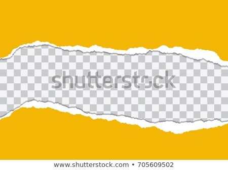 Color Torn Paper Borders With Transparent Background Stock photo © barbaliss