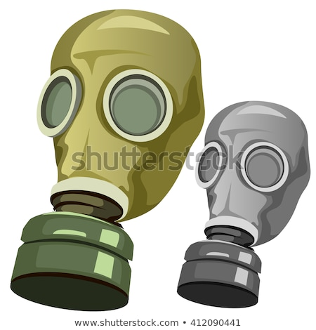 Stock photo: Respirator isolated. Gas mask green. Vector illustration