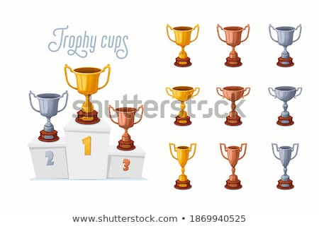 cups winner, first second third place pedestal. Sports champions Stock photo © rogistok