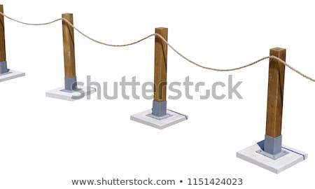holz post zaun seil frankreich natur stock foto topdeq 935222 stockfresh. Black Bedroom Furniture Sets. Home Design Ideas