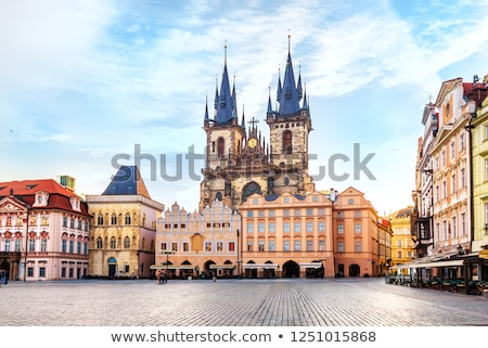 görmek · kilise · Prag · gökyüzü · Bina · mavi - stok fotoğraf © asturianu