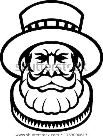 Hoofd mascotte icon illustratie bewaker ceremonieel Stockfoto © patrimonio