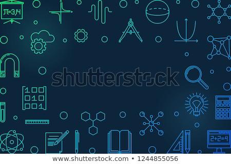 Nauczania matematyka kolorowy line projektu stylu Zdjęcia stock © Decorwithme