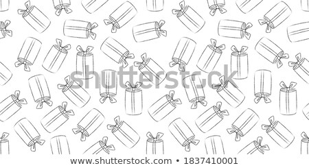 Vector set of different textured gift boxes. Hand drawn elements. Doodle. Freehand style Stock photo © user_10144511