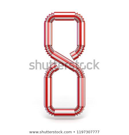 Potable paja número ocho 3D 3d Foto stock © djmilic