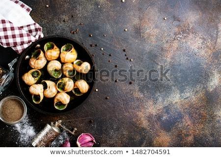 Сток-фото: улитки · приготовленный · масло · петрушка · продовольствие · Рождества