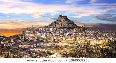 middeleeuwse · muur · hemel · textuur · steen · geschiedenis - stockfoto © lianem