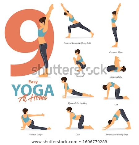 yoga · femme · vecteur · fille · entraînement - photo stock © anastasiya_popov