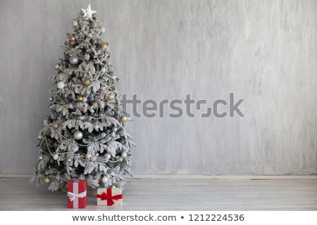 bianco · rosso · Natale · camino · interni · stile · moderno - foto d'archivio © dmitriisimakov