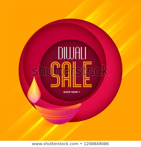 Stock photo: stylish diwali sale template in warm colors