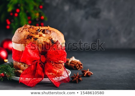Decorated panettone with Christmas tree Stock photo © Alex9500