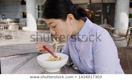 Stockfoto: Businesswomen Having Lunch At Office