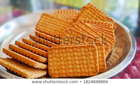 Biscuits plaat illustratie chocolade room zoete Stockfoto © adrenalina
