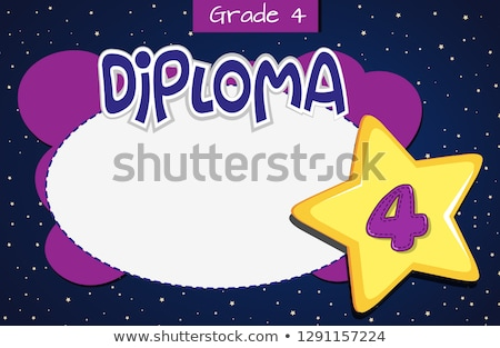 Grade four diploma certificate template Stock photo © bluering