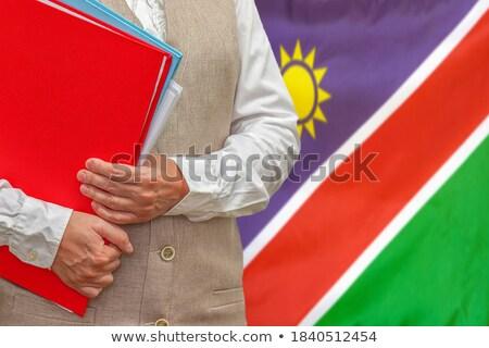 Klasör bayrak Namibya Dosyaları yalıtılmış beyaz Stok fotoğraf © MikhailMishchenko