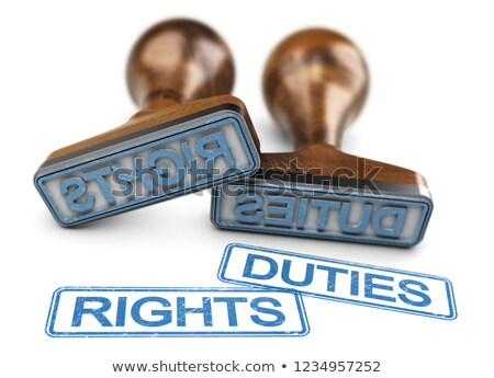 Rights And Duties Words Over White Background Stock photo © olivier_le_moal