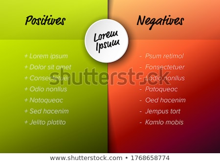 Vector pros and cons compare template table Stock photo © orson