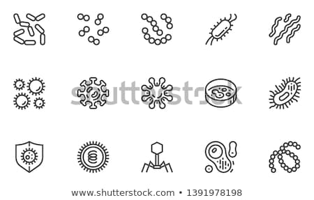 Stock photo: Bacteria virus cells set, microbes vector icon