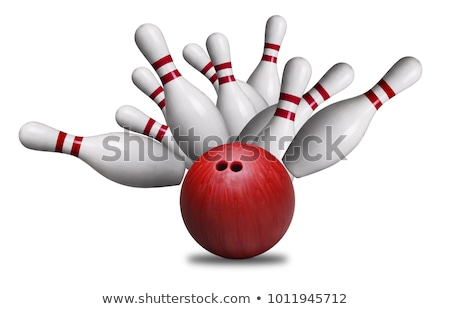 bowling · vektör - stok fotoğraf © colematt