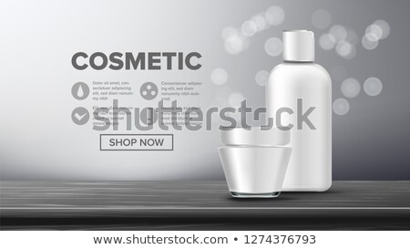 Cosmetic Bottle Product Vector. Female Hygiene. Exhibition Brochure. Product Branding Design. Contai Stock photo © pikepicture