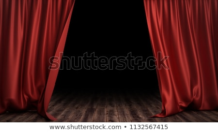 The red curtains are opening for the theater show Stock photo © alphaspirit