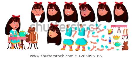 kız · anaokulu · çocuk · vektör · animasyon · oluşturma - stok fotoğraf © pikepicture