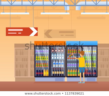 collectie · verschillend · vruchten · karton · colli · appel - stockfoto © robuart