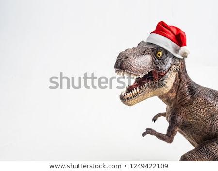 Natale Hat dinosauro indossare carta Foto d'archivio © Krisdog