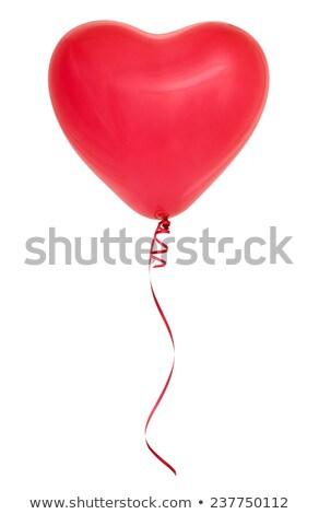 Piros szívek forma tutaj levegő szív alak Stock fotó © grafvision