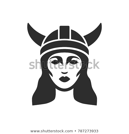 Beautiful warrior woman in image of viking with horned helmet an Stock photo © Stasia04