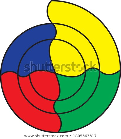 Carta vetor magenta ciano ícone logotipo Foto stock © blaskorizov