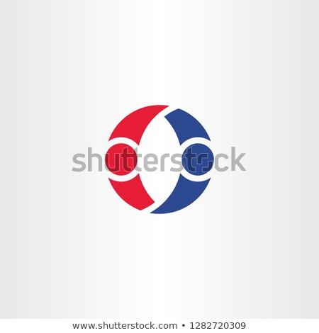 people dancing logo letter o symbol design element vector Stock photo © blaskorizov