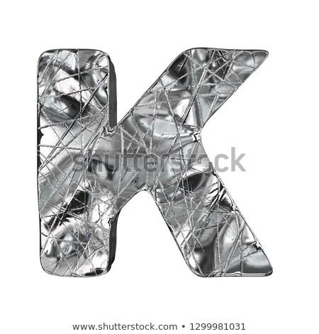 グランジ アルミ フォント 手紙 3D 3dのレンダリング ストックフォト © djmilic