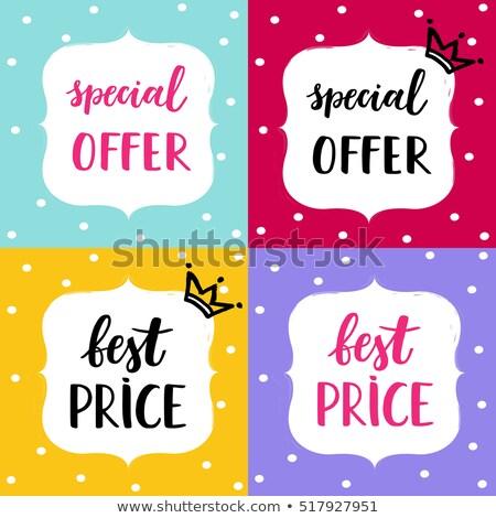 Big Christmas Sale Holiday Discount Postcards Set Stock photo © robuart