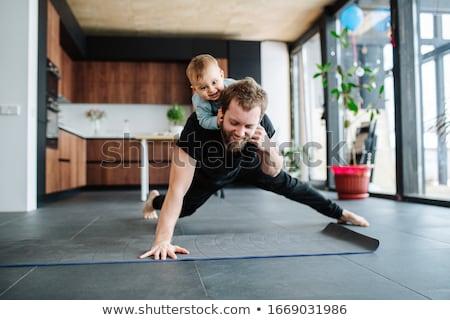 aile · atlamak · örnek · atlama · silah - stok fotoğraf © bluering