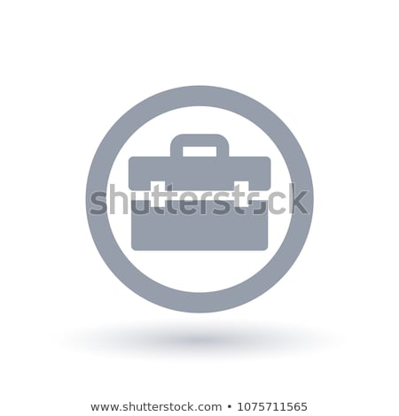 Briefcase Icon Vector Illustration Icon in Circle Stock photo © robuart