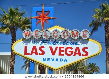 Mesés üdvözlet Las Vegas felirat tábla Nevada Stock fotó © AndreyPopov