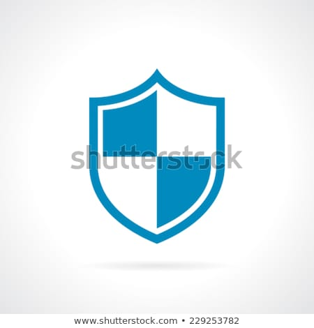 SSL Protection Secure Blue Shield. Vector illustration isolated on white background. Stock photo © kyryloff