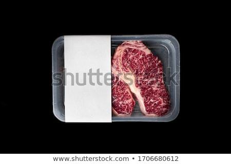 Carne envases ilustración arte negro blanco Foto stock © bluering