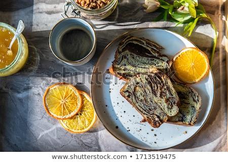 mermer · kek · çikolata · turuncu · ev · yapımı · ekmek - stok fotoğraf © furmanphoto