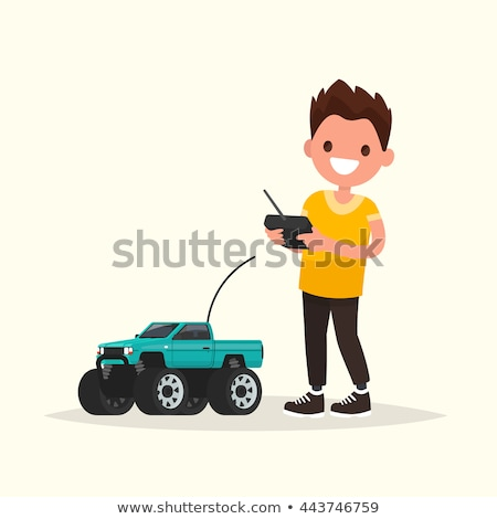 Radio Controlled Car Toy Vector. Isolated Flat Cartoon Illustration Stock photo © pikepicture