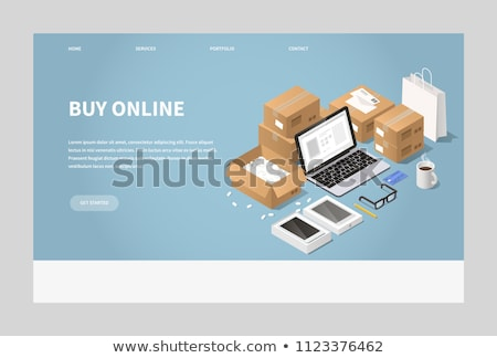 Online order isometric 3D concept illustration. Stock photo © RAStudio
