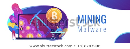 Hidden mining concept banner header. Stock photo © RAStudio