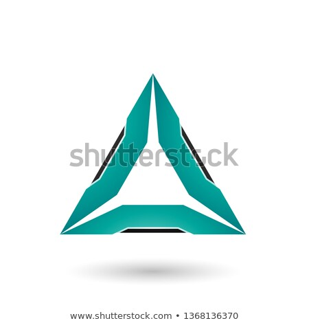 Persian Green Triangle with Black Edges Vector Illustration Stock photo © cidepix