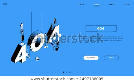 error 404 page   line design style isometric web banner stock photo © decorwithme