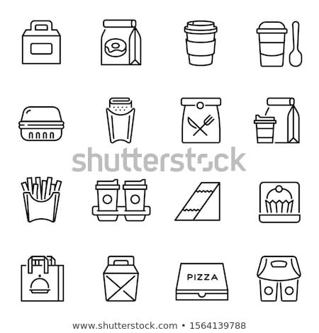 doodle · vecteur · restauration · rapide · eps · 10 · alimentaire - photo stock © olllikeballoon