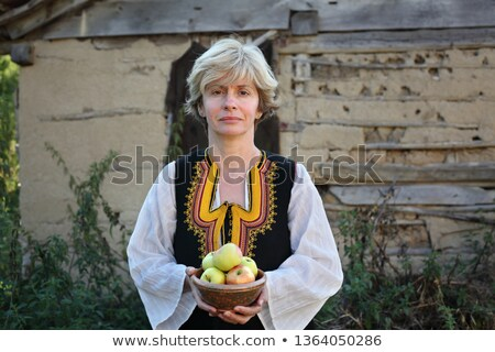 Adult female in Bulgarian folk costume, Stara Planina Serbia Stock photo © simazoran