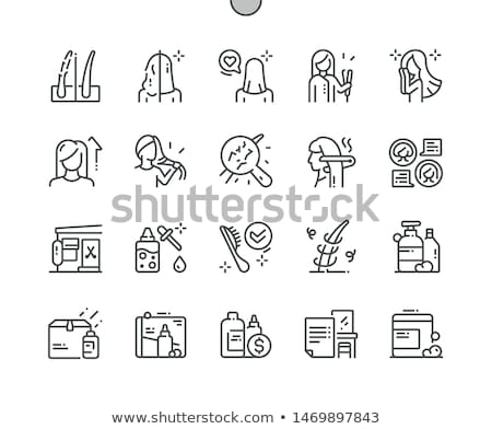 hair straightener icon stock photo © angelp