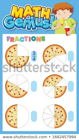 Matemática modelo ilustração fundo arte diversão Foto stock © colematt