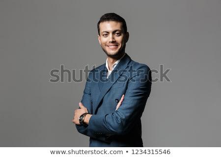 Obraz szczęśliwy arabskie biznesmen 30s formalny Zdjęcia stock © deandrobot